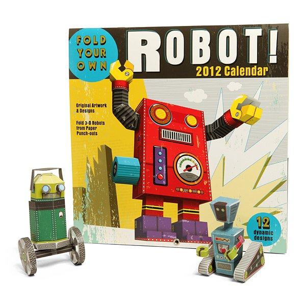 Build-a-Robot 2012 Paper Craft Calendar