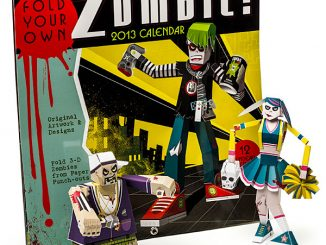 Build-a-Zombie 2013 Paper Craft Calendar