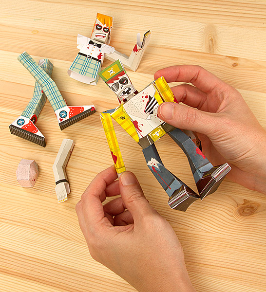 Build a Zombie 2014 Paper Craft Calendar