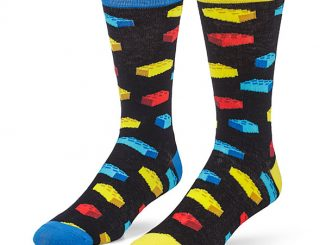 Building Brick Socks 2 Pack