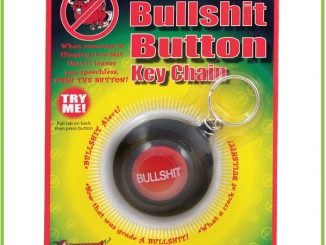 Bullshit Button Key Chain