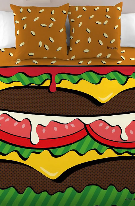 Burger Bed Cover