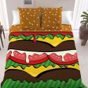 Burger Duvet Cover