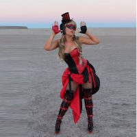 Burlesque Harley Quinn Costume with Corset