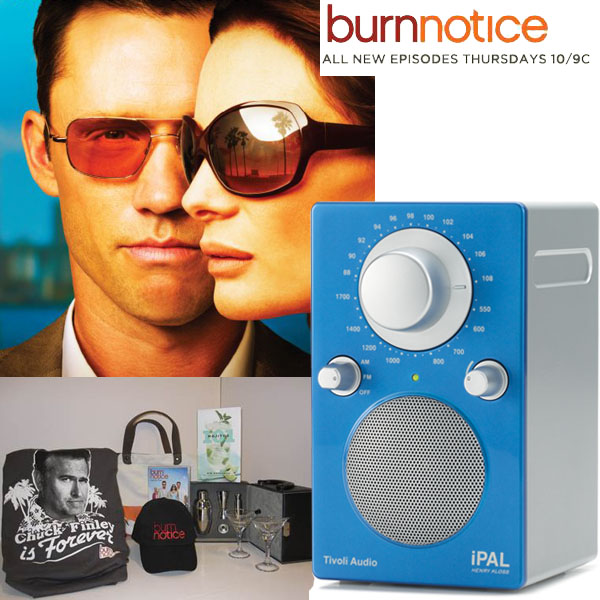 Burn Notice Prize Pack Giveaway with Tivoli iPal Radio
