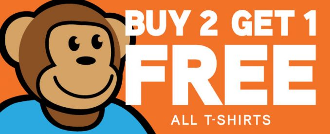 Buy 2 Get 1 Free On All T-Shirts at ThinkGeek