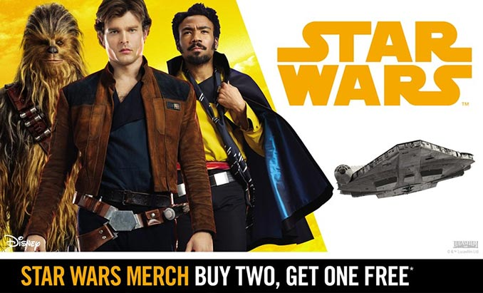 Buy 2 Get 1 Free Star Wars Merchandise