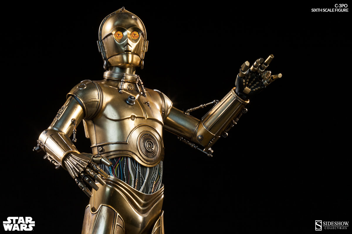 star wars c 3po sixth scale figure. Black Bedroom Furniture Sets. Home Design Ideas