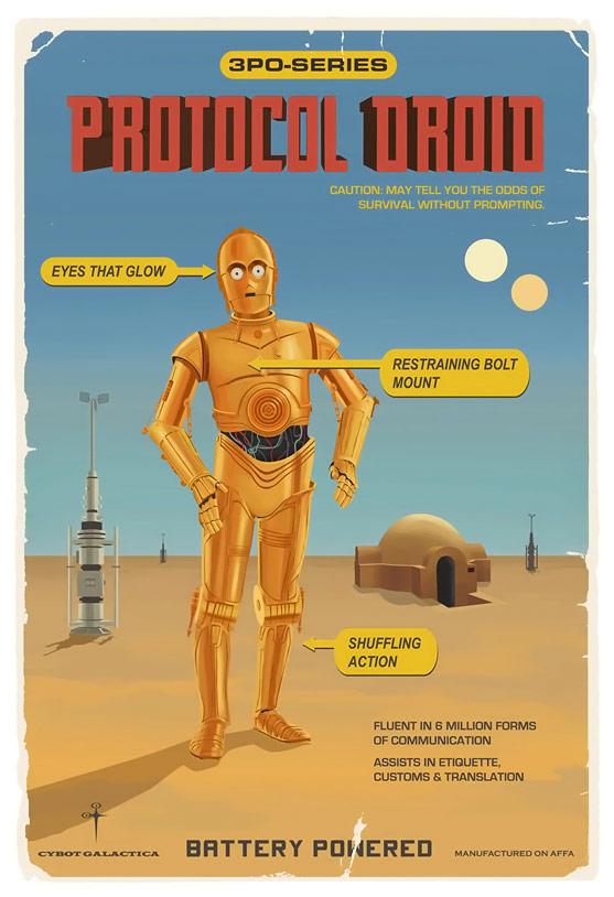 C3PO Protocol Droid Poster