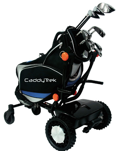 CaddyTrek with golf bag