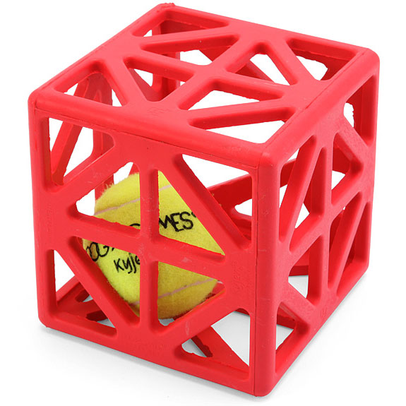 Cagey Cube Dog Ball Toy