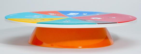 Cake Platter Wheel of Portion Size Chart
