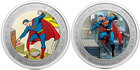 Canadian Silver Lenticular Superman Coin