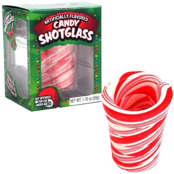 Candy Cane Shot Glass