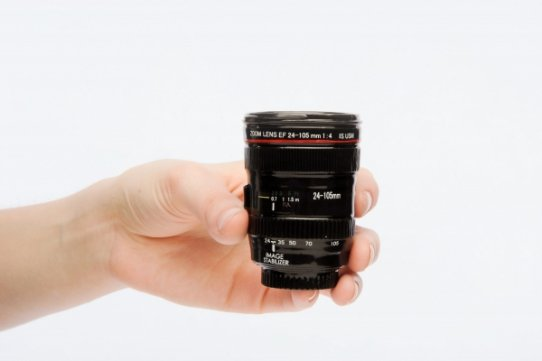 Canon EF 24-105mm lens Shot Glass