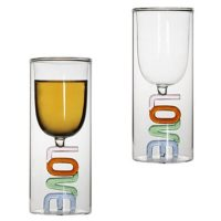 Capitalized Love Glass Cup