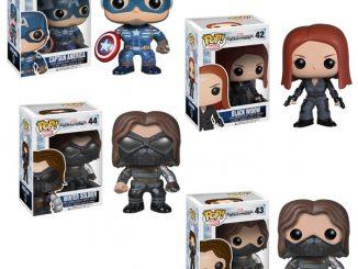 Captain America 2 The Winter Soldier Pop! Heroes Vinyl Figures