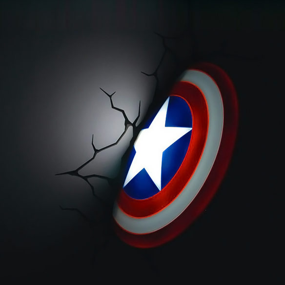 Captain America 3D Wall Art Nightlight
