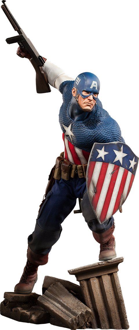 Captain America Allied Charge on Hydra Figure