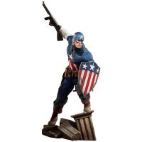 Captain America Allied Charge on Hydra Premium Format Figure