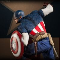 Captain America Allied Charge on Hydra Premium Format Figure Detail