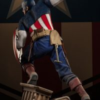 Captain America Allied Charge on Hydra Premium Format Figure Rear