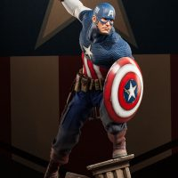Captain America Allied Charge on Hydra Premium Format Figure with Alternate Hand
