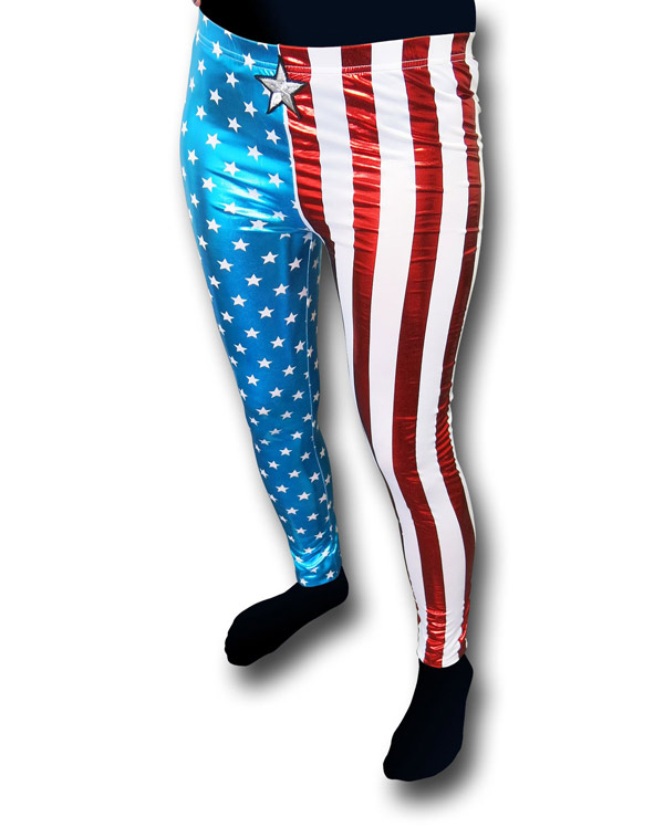Captain America American Dream Costume Leggings