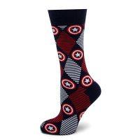 Captain America Argyle Dress Socks