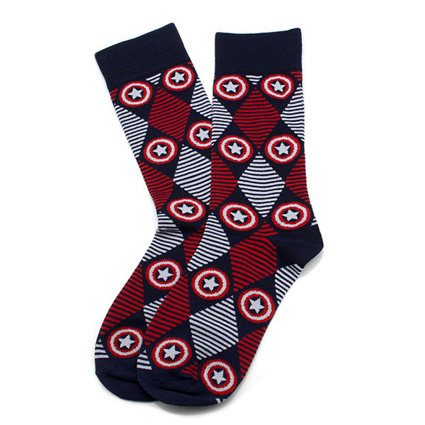Captain America Argyle Dress Socks