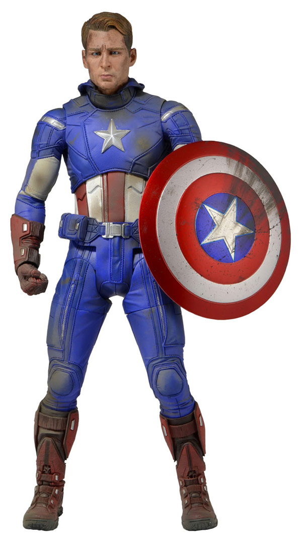 Captain America Battle Damaged Action Figure