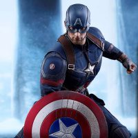 Captain America Battling Version Sixth-Scale Collectible Figure small
