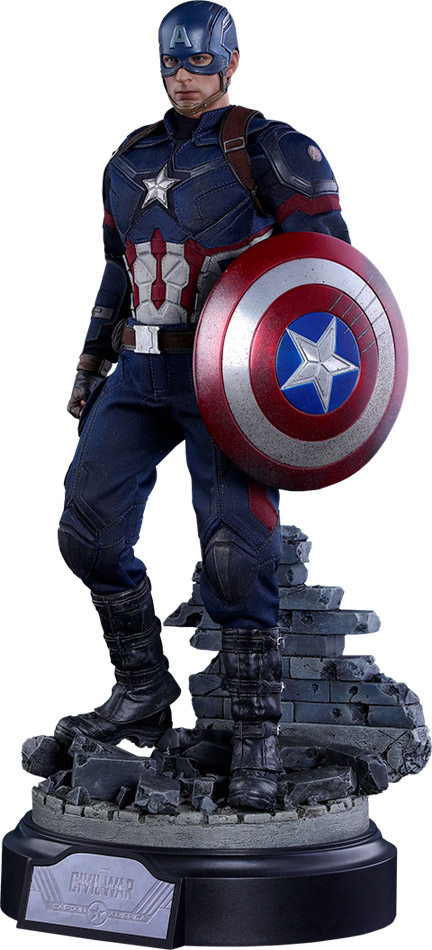 Captain America Battling Version Sixth-Scale Collectible Figure