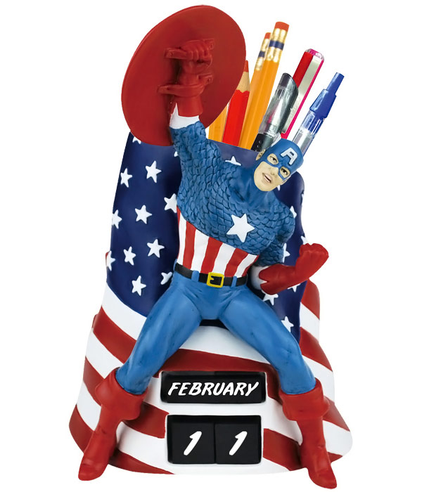 Captain America Calendar and Pencil Holder