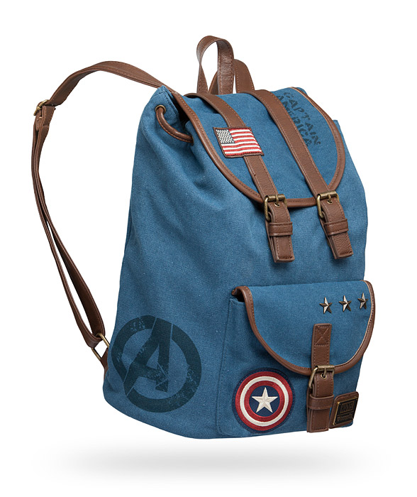 Captain America Canvas Backpack