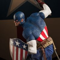 Captain America Charge on Hydra Premium Format Figure