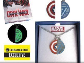 Captain America Civil War Best Friends Necklace Set