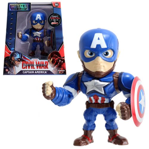 Captain America Civil War Captain America 4-Inch Die-Cast Metal Action Figure