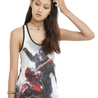 Captain America Civil War Captain America Vs Iron Man Girls Tank Top