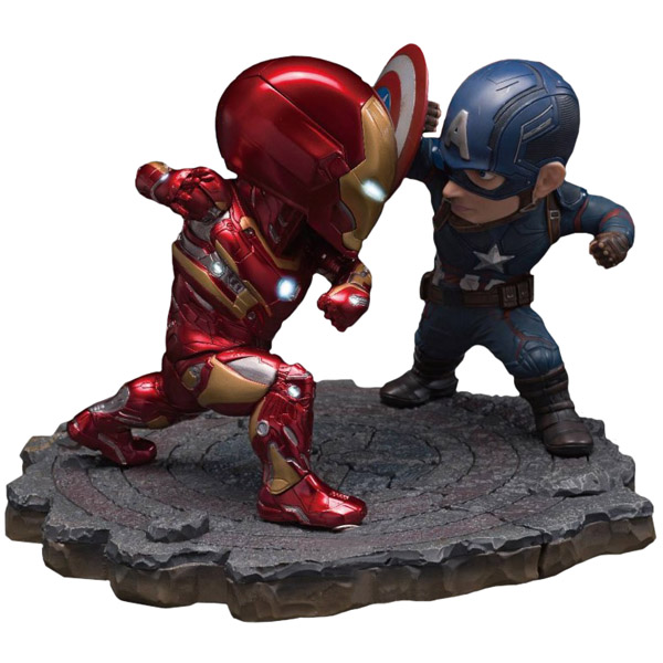 Captain America Civil War Captain America vs Iron Man Egg Attack Statue 2-Pack