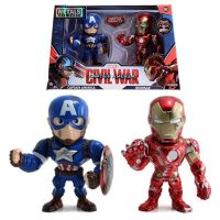 Captain America Civil War Captain America vs. Iron Man 4-Inch Metals Figure 2-Pack