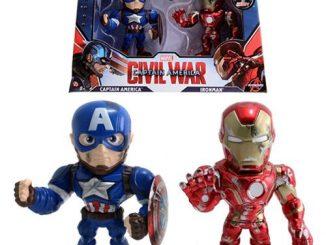 Captain America Civil War Captain America vs. Iron Man 4-Inch Metals Figure 2-Pack