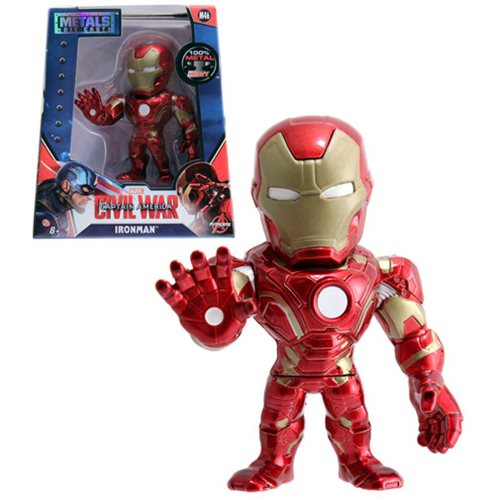 Captain America Civil War Iron Man 4-Inch Die-Cast Metal Action Figure