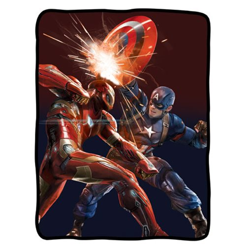Captain America Civil War Iron Man Fleece Blanket