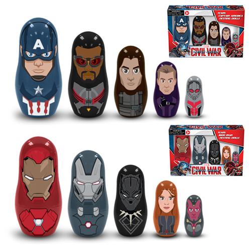 Captain America Civil War Nesting Doll Sets