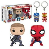 Captain America Civil War Pop Vinyl Figure and Key Chain 4-Pack