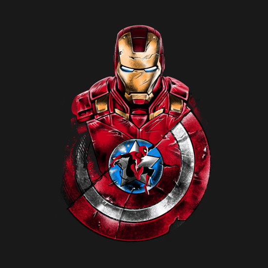 Captain America Civil War Swinging Through War Shirt