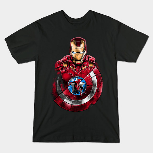 Captain America Civil War Swinging Through War T-Shirt