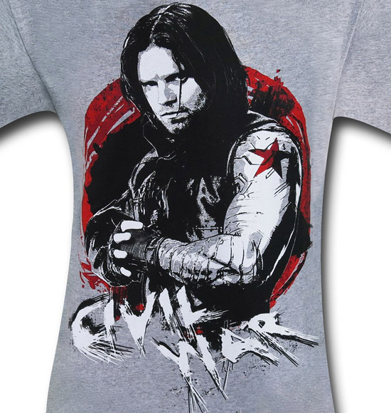 Captain America Civil War Winter Soldier Shirt