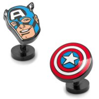 Captain America Comics Face and Shield Pair Cufflinks